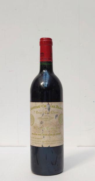 1 BOUT CHT CHEVAL BLANC 1986  (étiquette...