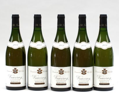 5 bout VOUVRAY MOELLEUX CLOS NAUDIN 2003...