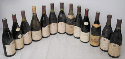 12 bout BOURGOGNE ROUGE, ST AMOUR 1975, CHENAS,...