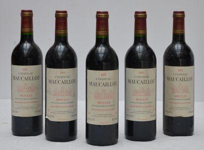5 bout Chateau Maucaillou 2001