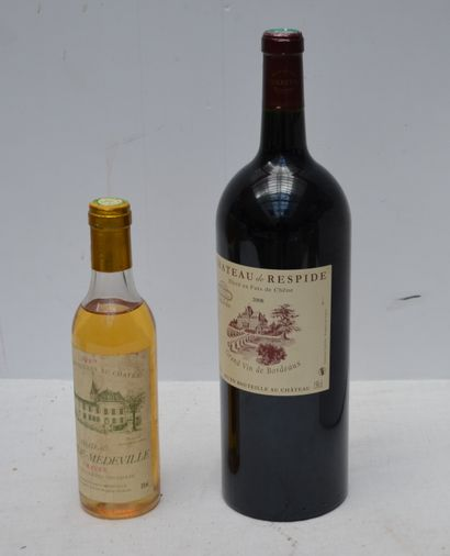 3 bout : 2 HERMITAGE BLANC CHAPOUTIER 1984,...