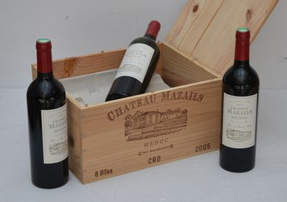 6 bout Chateau Mazails 2005 Medoc (CB)