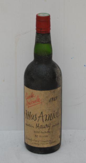 1 bout Mas Amiel Maury 1963 Cuvée spécia...