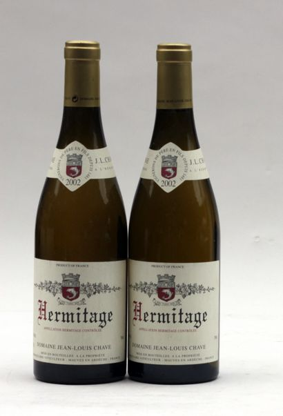 2 bout HERMITAGE BLANC JL CHAVE 2002