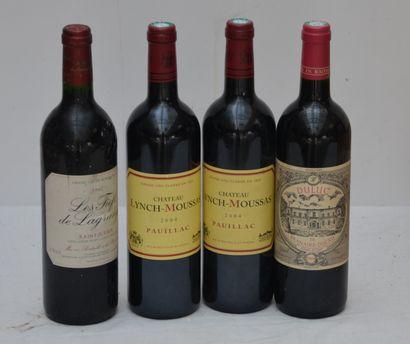 4 bout : 2 bout Chateau Lynch-Moussas 2004,...