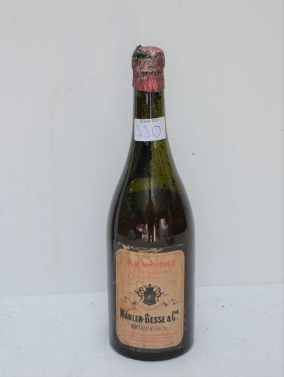 1 Bouteille de vin en vidange pour collectionneur...