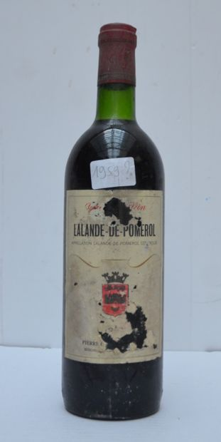 1 bout CHT LALANDE DE POMEROL 1959 (ea)