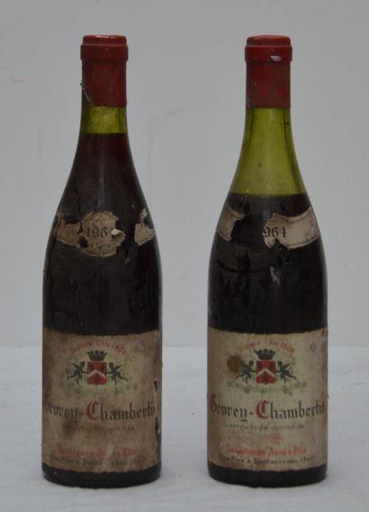 2 bout GEVREY CHAMBERTIN 1964