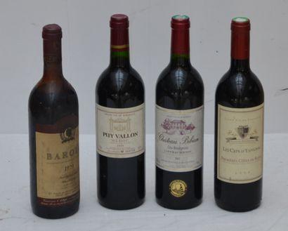 4 bout : 1 bout Chateau Bibian 2001 Lustrac,...