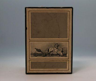 """Hermès - """"Calèche"""" - (1961)  Présenté dans son coffret rectangulaire en carton gainé..."""