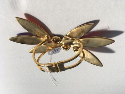 Martine Boutron pour Yves Saint Laurent - (années 1980)  Elégant et rare bracelet...
