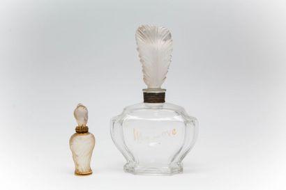 """Elizabeth Arden - """"My Love"""" - """"Mémoire Chérie"""" - (années 1930)  Deux flacons en..."""