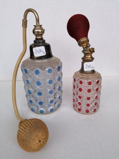 Baccarat - (années 1900-1910)  Deux flacons...