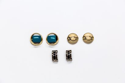 Lanvin - (années 1970)  Trois paires de clips...