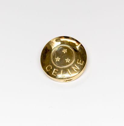 Céline - (années 1990)  Broche en métal doré...