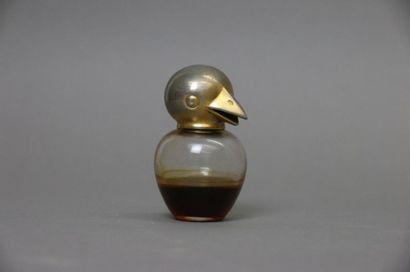 "Vigny - ""Le Chick Chick"" - (1923)  Amusant flacon humoristique en verre incolore..."