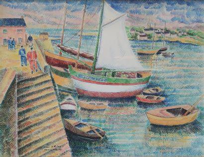 Pierre DE BELAY (1890-1947)  Quais animés...