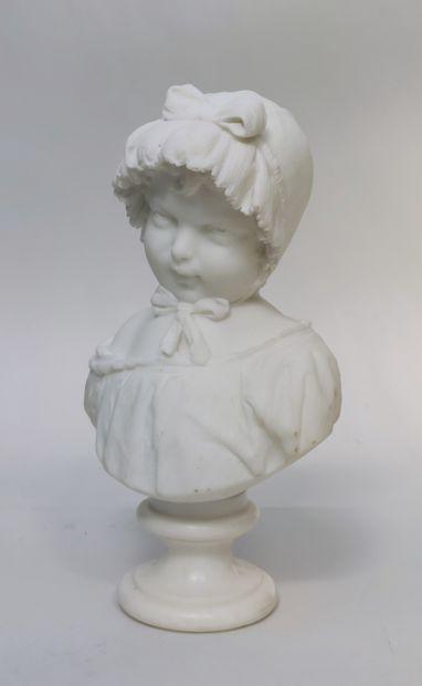 Quirini TEMPRA (1849-1888)  Buste de petite...