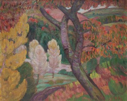 Léon DETROY (1857-1955) Paysage auprès de...