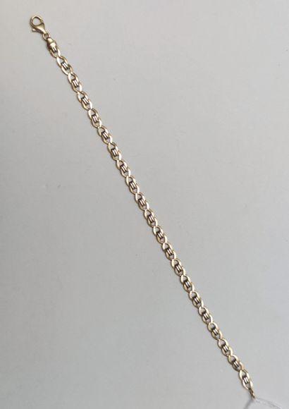 Bracelet en or jaune 750°/00  Poids : 8.3...
