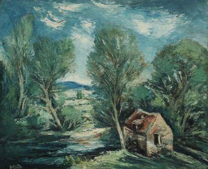 Anders OSTERLIND (1887-1960)  Paysage de...