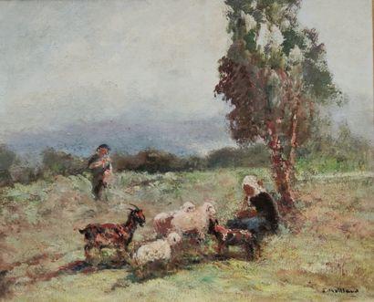 Fernand MAILLAUD (1863-1948)  Berger et son...