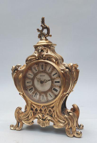 PETIT CARTEL de style Louis XV en métal doré...
