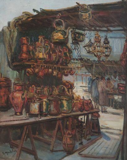 Gustave MADELAIN (1867-1944) Le Marché aux...