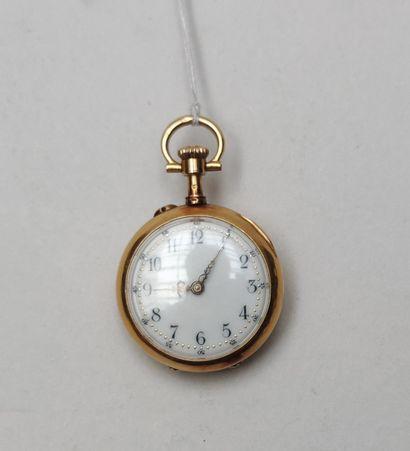 Petite montre de poche en or jaune 750°/00...
