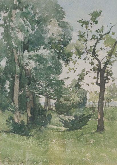 Henri Joseph HARPIGNIES (1819 - 1916)  Sous...