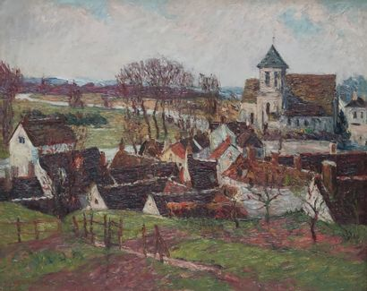 André WILDER (1871-1965)  Village en Normandie,...