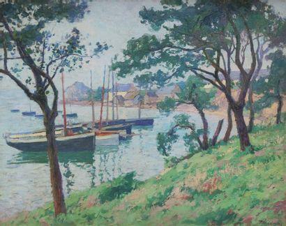 Paul MADELINE (1863-1920) Le port de Longivy,...
