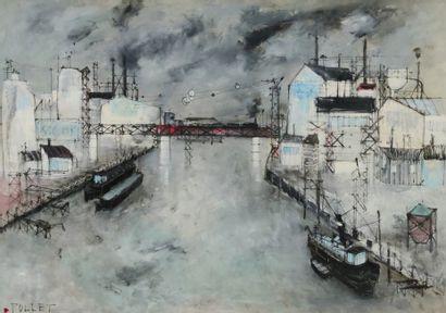Jean POLLET (1929)  Paysage de Saint Denis...