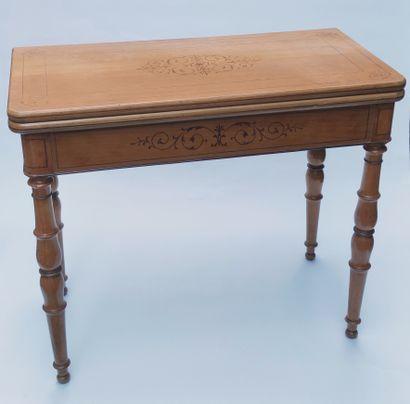 TABLE A JEUX à plateau pliant mobile en...