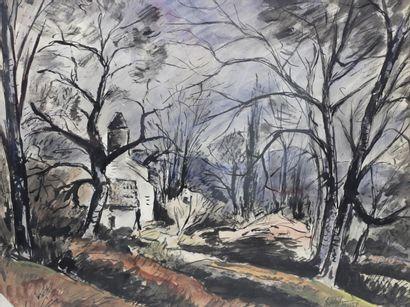 Anders OSTERLIND (1887-1960)  Paysage  Aquarelle...