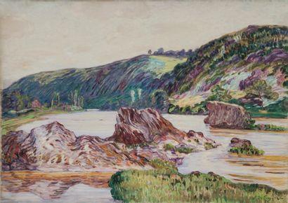 Léon DETROY (1857-1955) Bord de la Creuse...