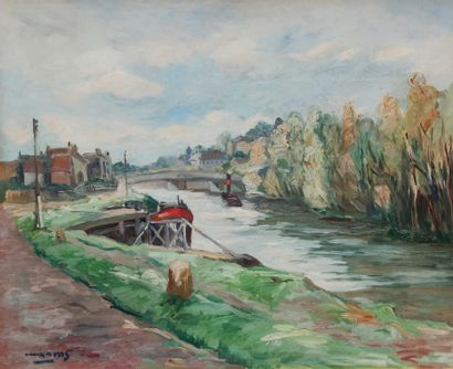 Pere CREIXAMS PICO (1893-1965)  Bord de Seine...
