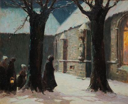 André WILDER (1871-1965)  L'arrivée des...