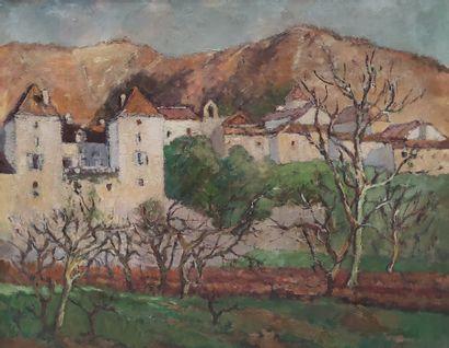 André WILDER (1871-1965) Vue de château...