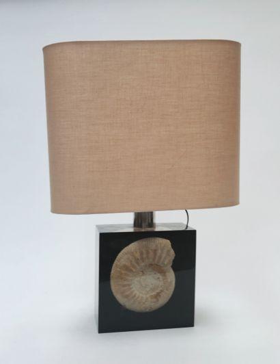 LAMPE de table, le pied en plexiglass avec...