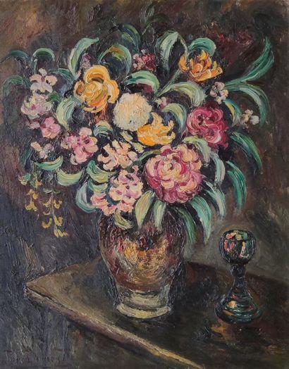 Pierre DUMONT (1884-1936) Bouquet de fleurs...