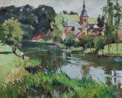 MAURICE-MARTIN (1894-1978)  Petit village...