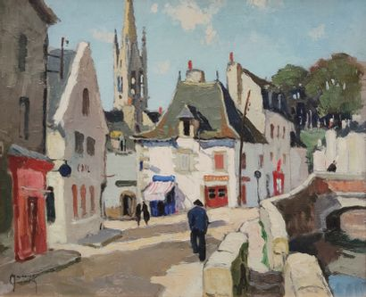 MAURICE-MARTIN (1894-1978)  Promeneurs à...