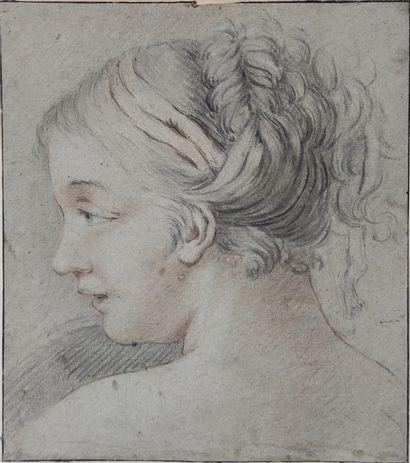 ECOLE FRANCAISE XVIIIe/XIXe SIECLE  Portrait...