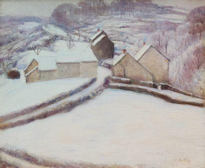 Léon DETROY (1857-1955) Crozant sous la...