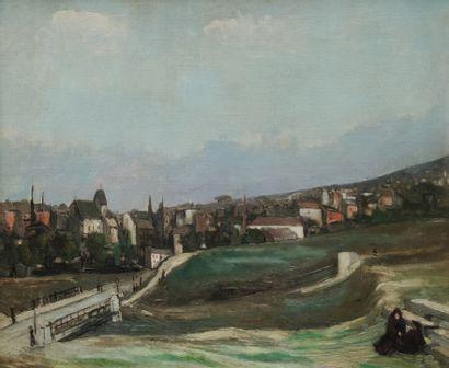 Alphonse QUIZET (1885-1955) Vue de Banlieue...