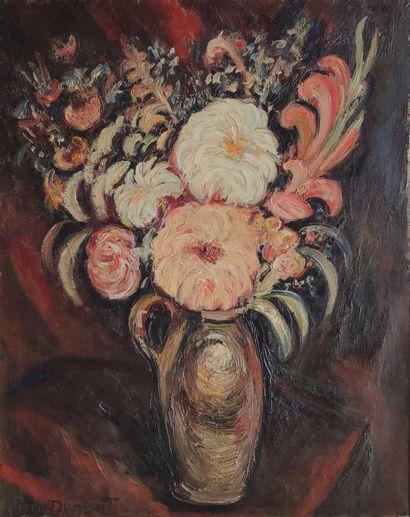 Pierre DUMONT (1884-1936) Le grand bouquet Huile...