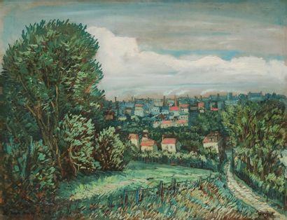 Alphonse QUIZET (1885-1955) Panorama sur...