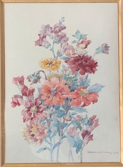 Louise ABBÉMA (1858-1927)  Jetée de fleurs,...