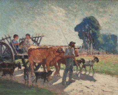 Fernand MAILLAUD (1863-1948) Retour des...